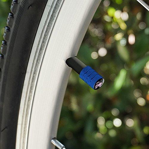 オートバイ自転車バイクタイヤリムホイールアルミバルブステムキャップ - ブルーピンクファームトラクター