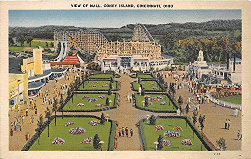 Cincinnati, Ohio, OH, USA Postcard View of Mall, Coney Island ()