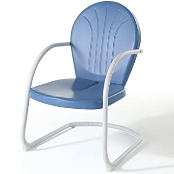 Amazoncom Crosley Furniture Griffith Metal Outdoor Chair Sky