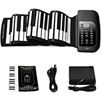 Lujex 88-Keys Roll Up Piano,Upgraded Portable...
