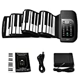 Lujex 88-Keys Roll Up Piano,Upgraded Portable Rechargeable Electronic Hand Roll Piano with Environmental Silicone Piano Keyboard for Beginners