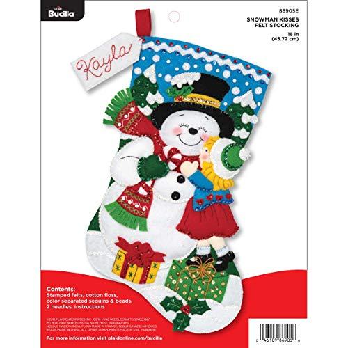 Bucilla Christmas Felt Kits - Bucilla 86905E Felt Appliques Christmas Stocking Kit, 18