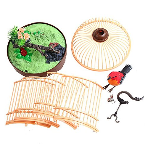 Liberty Imports Singing and Chirping Bird Toy in Cage - Realistic Sounds and Movements - Sound Activated by Liberty Imports (Image #5)