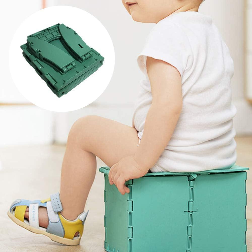 Inodoro Plegable para ni/ños Orinal de Viaje para ni/ños Asiento de Inodoro Plegable,Asiento para Orinal de beb/é para Interior y Exterior