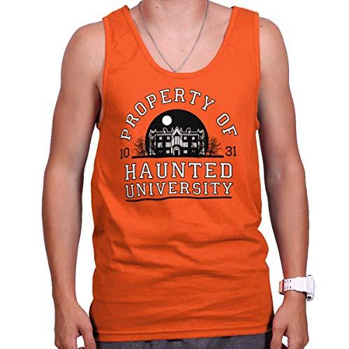 Brisco Brands Haunted University College Halloween Scary Tank Top Orange ()