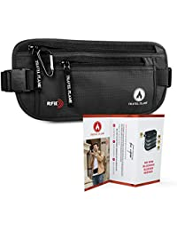 Travel Money Belt for Women And Men - Hidden Wallet for Travel with RFID Blocking Material - Secure, Waterproof Money Belt for Travel and Daily Use