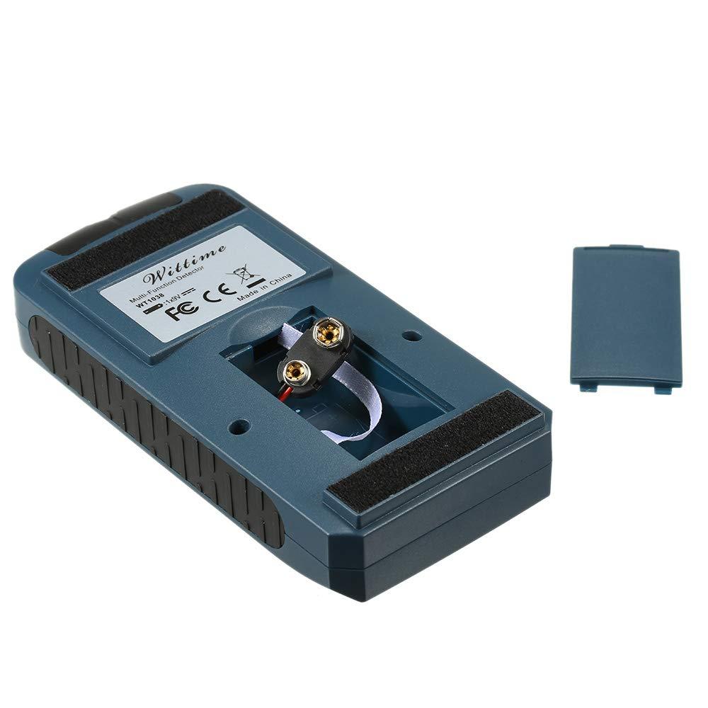 KKmoon Detectores de metales 4 en 1 WT-1038 Sensor de pernos de metal multifuncional Detectores de cables eléctricos de corriente alterna profundos Detector ...