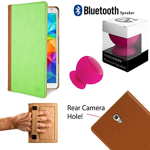 Deluxe Executive Portfolio For Samsung Galaxy Tab S 8.4-inch Android Tablet + Pink Bluetooth Suction ()