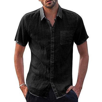 Amazon.com: MIS1950s Mens Retro Stand Collar Shirt Button ...