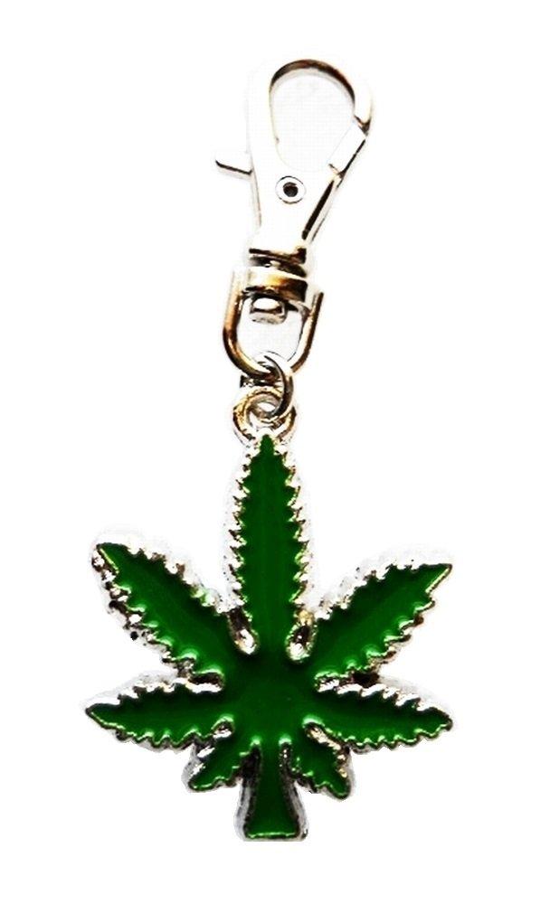 Heavens Jewelry Pot Leaf Weed Marijuana Kush Hydro Cannabis Collar Dog TAG Purse Jacket Backpack Fan Zipper Key Chain
