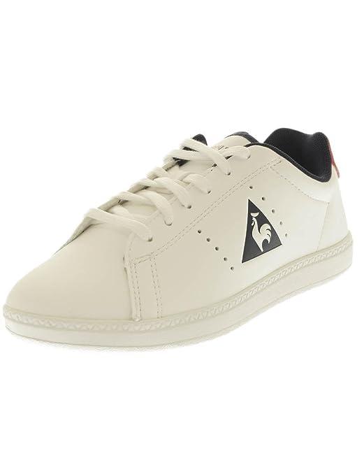 Amazon.com | Le Coq Sportif Courtone GS Lea Sneakers Unisex Low Sneakers Bianco | Sneakers
