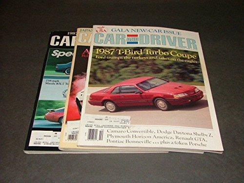 (3 Iss Car Driver Oct-Dec '86 Daytona Shelby Z,Twin Turbo Corvette,Porsche 928S)