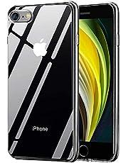 Migimi telefoonhoes compatibel met iPhone SE 2020/7/8 hoes, silicone beschermhoes anti-kras ultradun TPU bumper cover bescherming tas shell case voor iPhone SE 202020/7/8 hoes - transparant