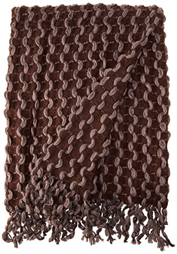 Chic Home Maisie Two Tone Chenille Finished Acrylic Throw Blanket with Ribbon Insertion 50x60 Inch Purple 2 Tone Blanket