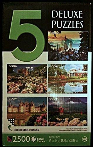 Sure-Lox 5 Deluxe Puzzles 2500 Pieces European Scenes