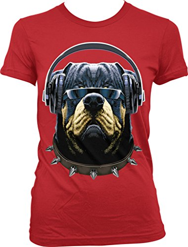 Rottweiler with Headphones and Sunglasses, DJ Rotty Juniors T-shirt, NOFO Clothing Co. L - Fetch Sunglasses