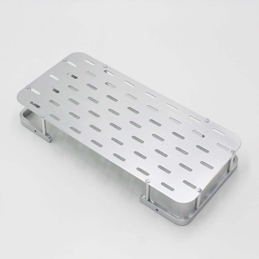 BOEN A1103 Aluminio Carrito de la Ducha Accesorios de Ba/ño 1 Pisos Montaje en Pared,Plateado