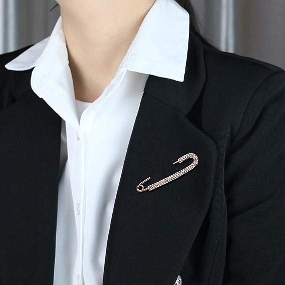 ZOUQILAI Cardigan Broche Pin de Mujer Hebilla de mantón Simple ...
