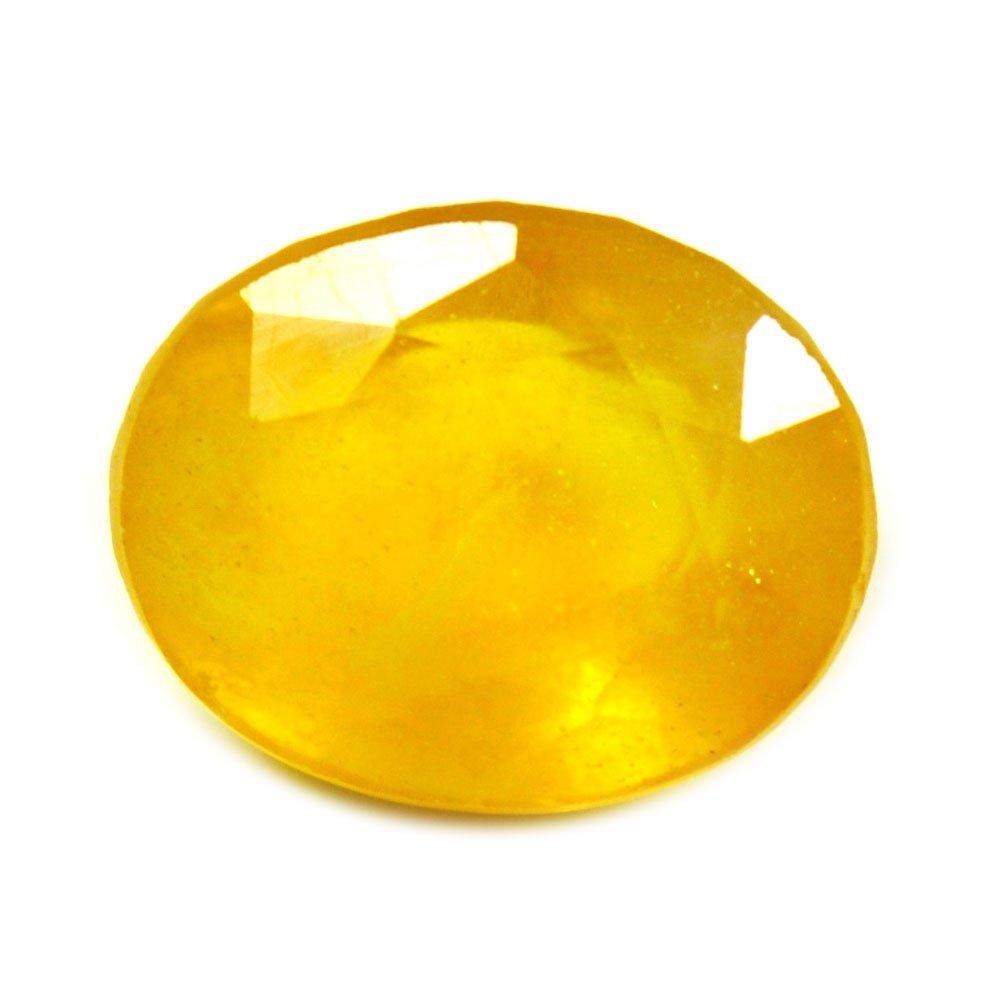 55Carat Yellow Sapphire Stone 5.5 Carat Natural Original Birthstone Oval Loose Gemstone at Wholesale Rate 55CtYLS4