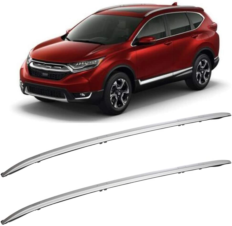 OCPTY Roof Rack Roof Side Rails Silver Cargo Carrier Top Side Rails Fit for 2017-2019 Honda CR-V Sport Utility 4-Door Roof Side Rails