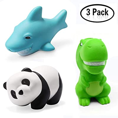 Xstars Gamtec Set of 3 Doll Squishy Squishies Slow Rising Soft Shark Panda Dinasour for Kids Friends Fidget Stress Relife Toy(3PCS): Toys & Games