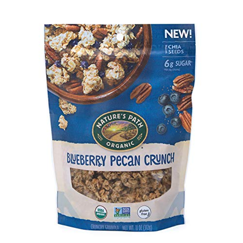 Nature's Path Blueberry Pecan Granola, Healthy, Organic, Gluten-Free, 11-Ounce Pouch (Pack of 8)