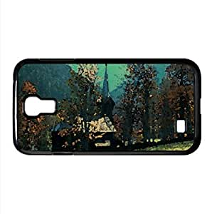 Mountain Church Watercolor style Cover Samsung Galaxy S4 I9500 Case (Mountains Watercolor style Cover Samsung Galaxy S4 I9500 Case)