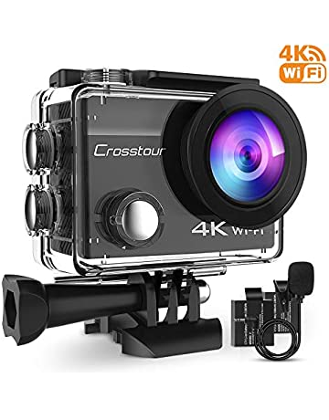 d6ac383e027 Crosstour 4K 16MP Action Camera Underwater Cam WiFi Remote Control  Waterproof with External Microphone EIS Anti