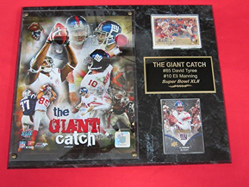 David Tyree Catch - Giants Eli Manning David Tyree THE CATCH 2 Card Collector Plaque w/ 8x10 Photo