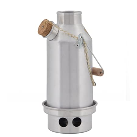 Kelly Kettle Camp Stove Stainless Steel – Boils Water Within Minutes, Uses Natural Fuel, and Enables You to Rehydrate Food or Cook a Meal Small Trekker