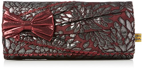 Red Clutch Bow Women's Choice Patty Burgundy Clutch Irregular cwUS4qnOw