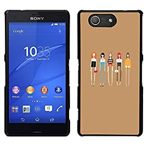 A-type Arte & diseño plástico duro Fundas Cover Cubre Hard Case Cover para Sony Xperia Z3 Compact / Z3 Mini (Not Z3) (Ladies Fashion Friends Fashion)