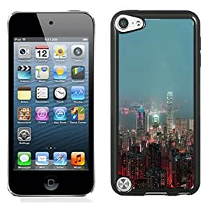 New Beautiful Custom Designed Cover Case For iPod 5 With Skyline Hongkong Fire City Night Live Phone Case
