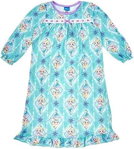 Disney Frozen Elsa Winter Snowflakes Flannel Granny Nightgown 3bdc0f565