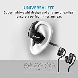 Anker SoundBuds NB10 Bluetooth Earbuds Sweatproof, Secure Fit Sport Wireless Headphones with Enhanced Bass for Work Out, Running, BMX, and Boxing (Black)
