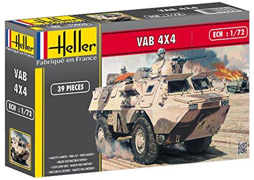 Heller VAB 4 x 4 Armored Amphibious Vehicle Military Land Vehicle Model Building Kit