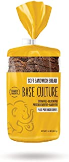 product image for Base Culture Paleo Bread, Large Size | Delicious 100% Paleo Certified, Gluten Free, Grain Free, Non GMO, Dairy Free, Soy Free | Perfect for Sandwiches | 24oz, 18 Slices Per Loaf, 4 Count