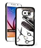 Hair Brush Phone Case Samsung Galaxy Note 5 Hard Back Case Cover Scissors Comb Brush Hair Dresser (Black)