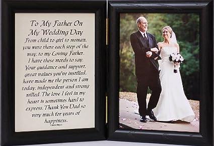 Amazoncom 5x7 Hinged To My Father On My Wedding Day Poem Gift