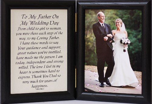 amazoncom 5x7 hinged to my father on my wedding day poem black frame father of the bride baby keepsake frames