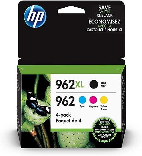 Amazon.com: HP 962XL - Cartuchos de tinta para HP 962 (4 ...