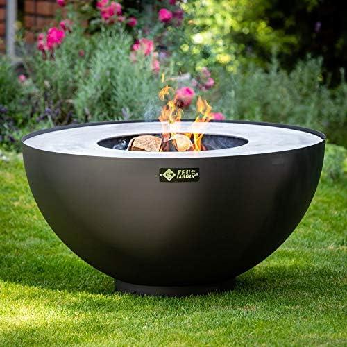 Bolas decorativas para plantas, con parrilla, bola de fuego con función de barbacoa para el jardín en negro: Amazon.es: Jardín