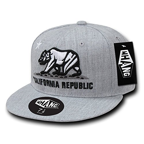 WHANG Retro Fitted Cap, Heather Grey, 7 1/2