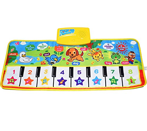 Piano Musical Mat,Giant Educational Pre-Kindergarten Toys,15 Keys Keyboard Floor Mat]()