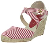 ADRIENNE VITTADINI Footwear Women's Brianna, Red Stripe, 7.5 M US