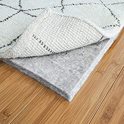 RUGPADUSA Safe for All Floors and Finishes including Hardwoods Basics Premium Comfort Rug Pad 5x7-1//3 Thick 100/% Felt Made In the USA