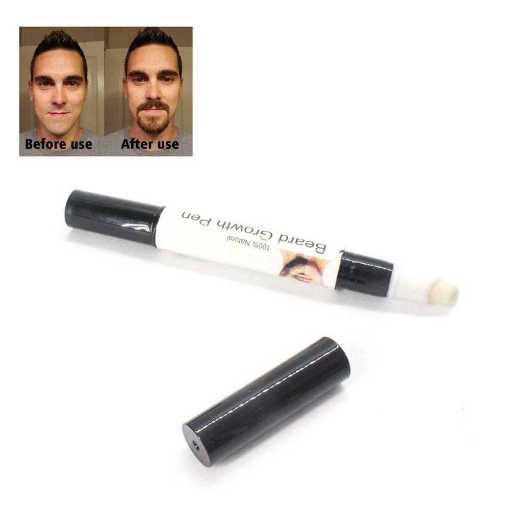 Organic barba aceite crecimiento, PAWACA barba crecimiento pluma eficaz rápido crecimiento de la barba nutritivos mejorar líquido bolígrafo, 3ml