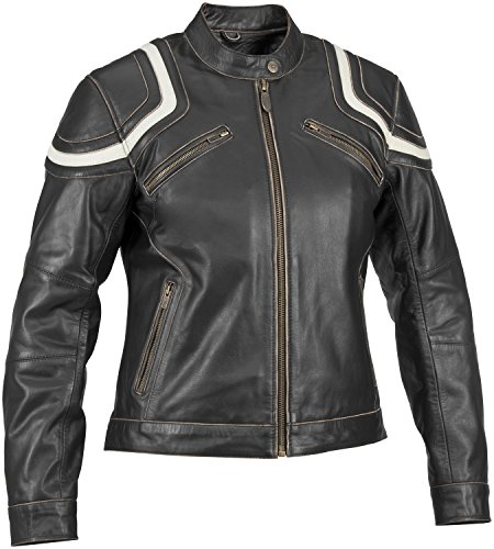 River Road Womens Babe Vintage Leather Jacket Black S/Small