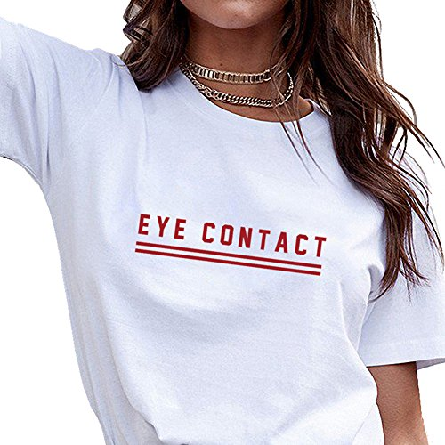 BLACKOO Teen Girl Funny T shirts Women Cute Tops Junior Graphic Tee White Medium (Juniors White Graphic)