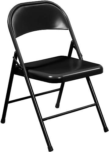 Commercialine Steel Folding Chair Set of 4 Color Black
